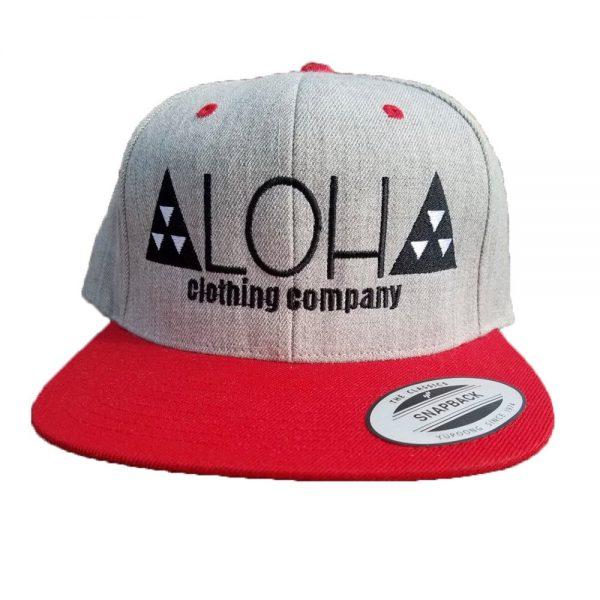 ALoha Clothing Company red: grey snapback
