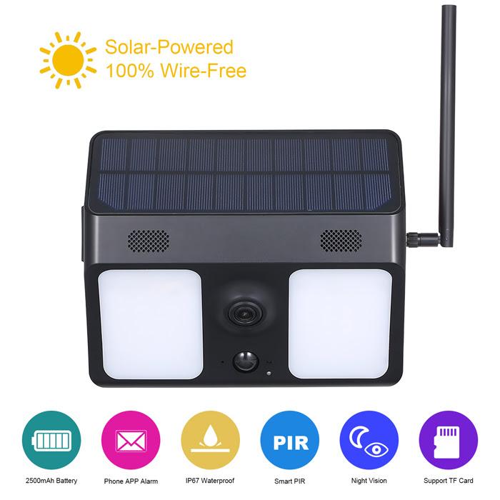 security camera solar power wireless alarm